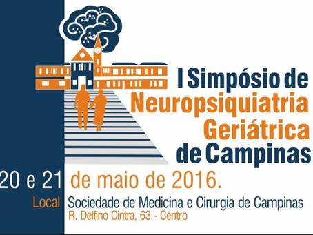 20 e 21 de maio: I Simpósio de Neuropsiquiatria Geriátrica de Campinas