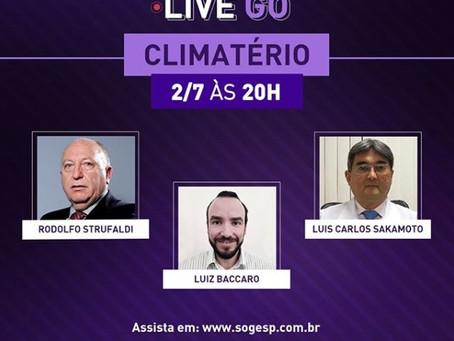 Live SOGESP discute qualidade de vida da mulher no climatério
