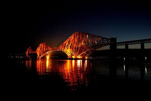 Forth Bridge at Night, Edinburgh