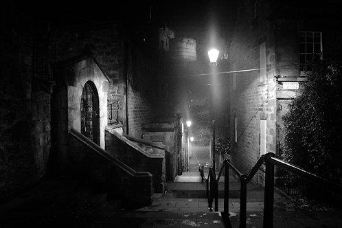 The Vennel in The Fog, Edinburgh