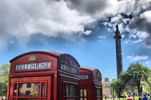 Telephone Boxes in George Street, Edinburgh