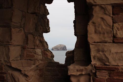 Bass Rock From Tantallon Castle, North Berwick