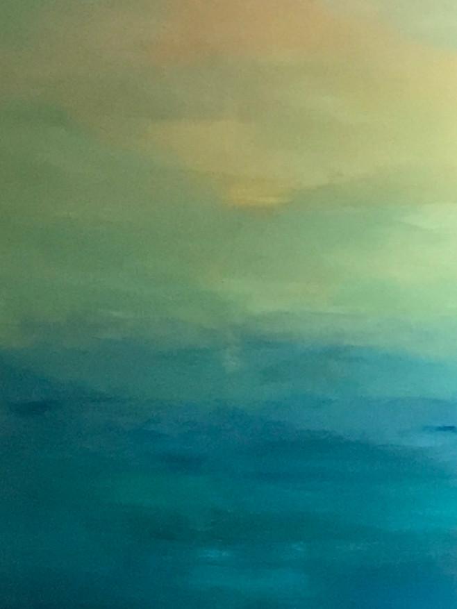Le coucher de soleil Toile de 100X89