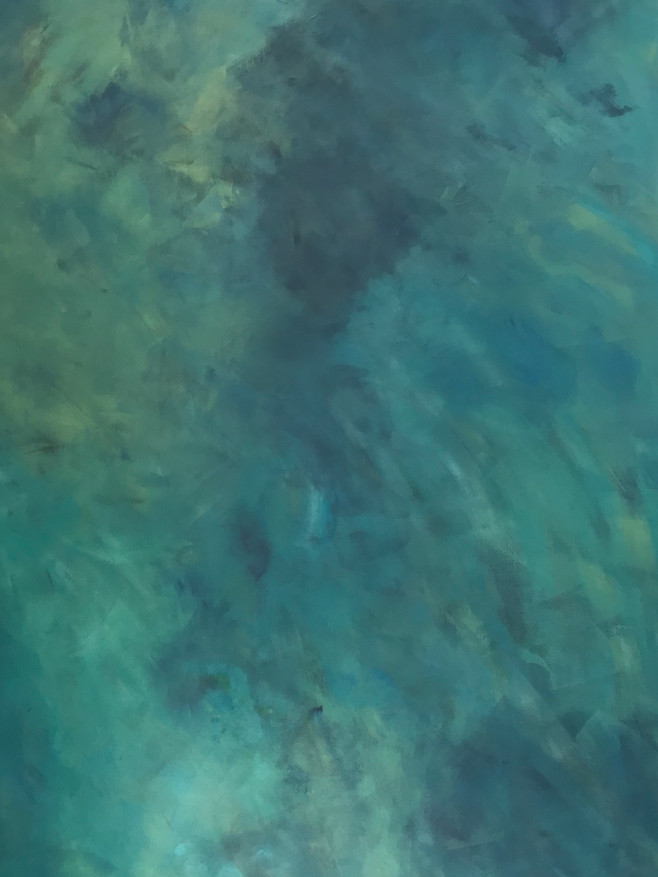 Vue au dessus du lagon Toile 150X100