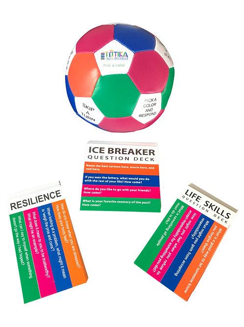 Totika Thumball & Icebreaker, Life Skills & Resilience Card Decks