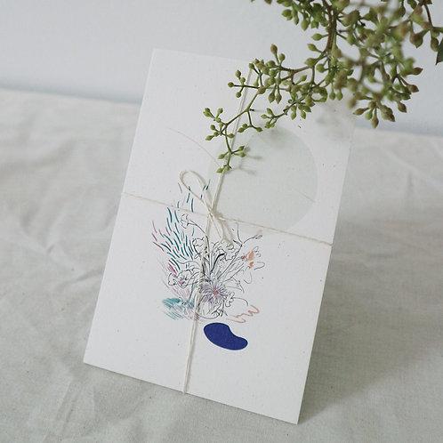 4 Vase Drawings Set