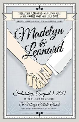 Wedding invitation: Madelyn & Leonard
