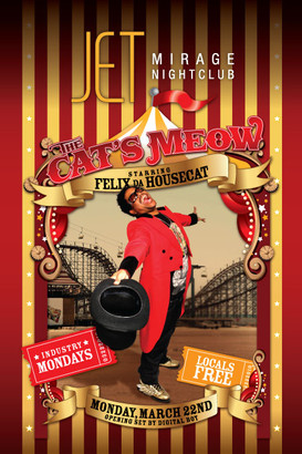 """""""The Cat's Meow"""" event poster"""