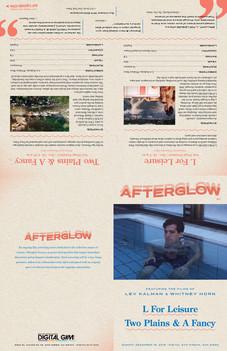 AFTERGLOW program: folding layout