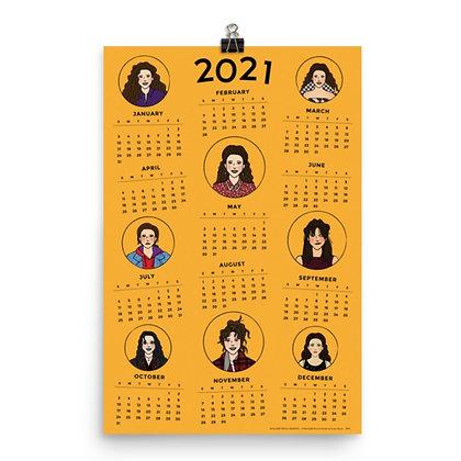 AN ELAINE FOR ALL SEASONS! / 2021 Calendar / 12x18 inches