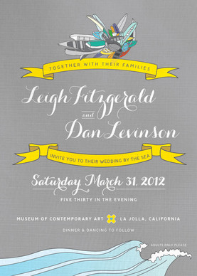 Wedding invitation: Leigh & Dan