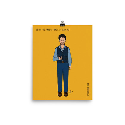 """Denim Vest Steve / """"The Strike"""" / 8x10 print"""