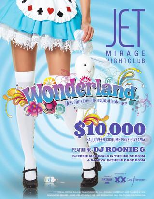 """Wonderland"" event poster"