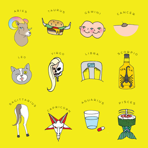 """Astrologically Unsound"" horoscope icons"