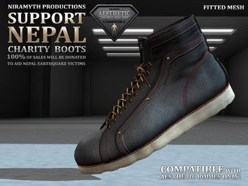 """""""Support Nepal"""" Charity Boots"""