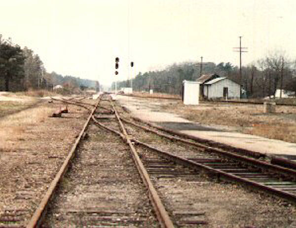 norlina, nc railroad juction ~80s - image by CR Britting (c) 2018