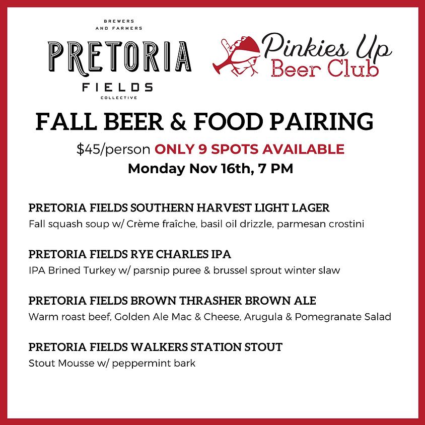 Food Pairing with Pretoria Fields