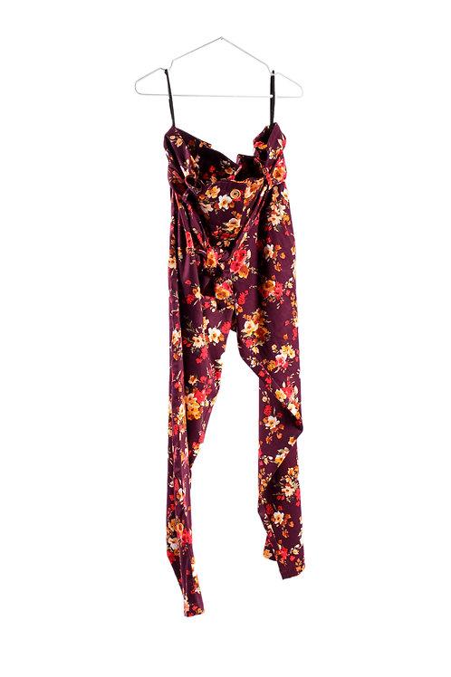 Maroon Paperbag Pants by Glare Modern Vintage