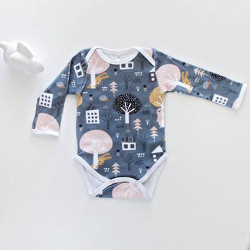 Grey Classic Onesie by BABA FISHEES