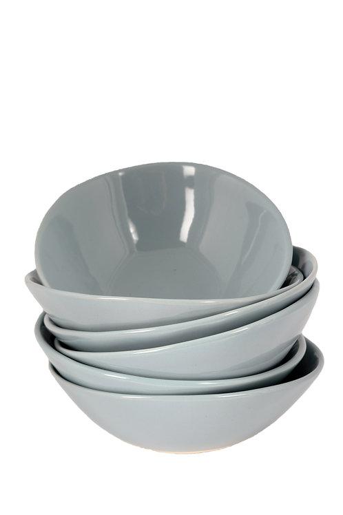 Soup Bowls (grey) by Mervyn Gers Ceramics