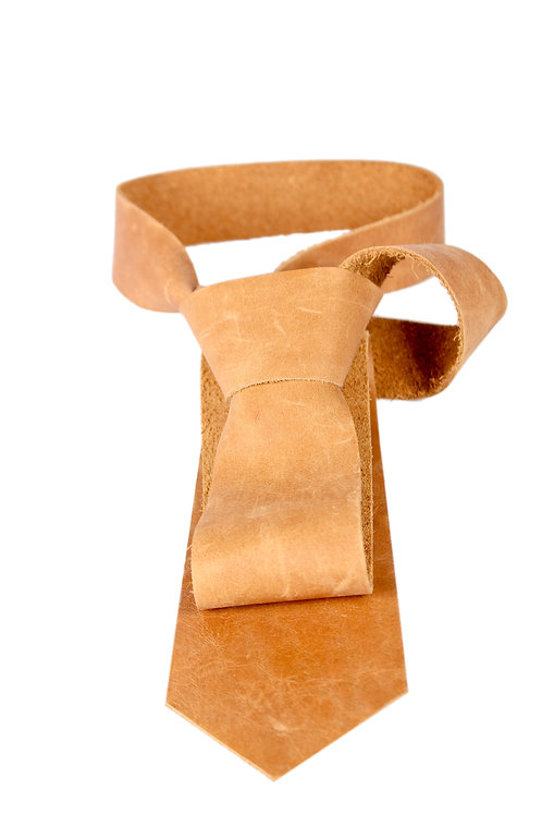 Leather tie (men) by Theron&Theron