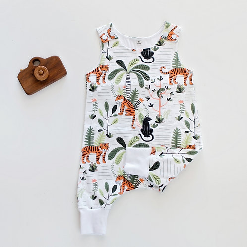 Sleeveless Jungle Fever Romper by BABA FISHEES
