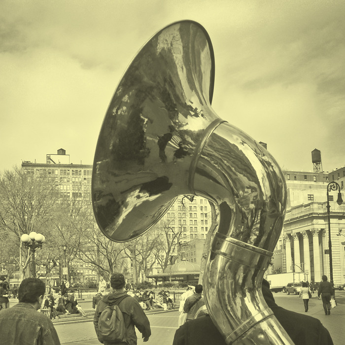 A big horn representing tone of voice
