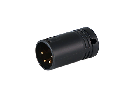 Low-Profile Right Angle XLR 4-pin Male, A-Shell