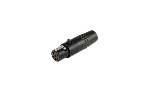 """TA6FL 6-pin Female """"Mini XLR"""", 6mm Outlet"""