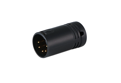 Low-Profile Right Angle XLR 5-pin Male, A-Shell