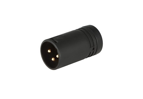 Low-Profile Right Angle XLR 3-pin Male, B-Shell