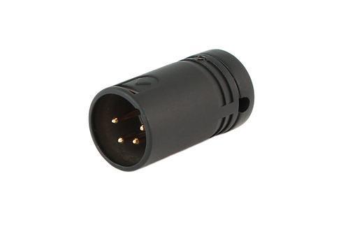 Low-Profile Right Angle XLR 4-pin Male