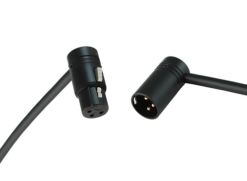 Premium Low-Profile XLR-3F to XLR-3M microphone cable with Mogami W2549