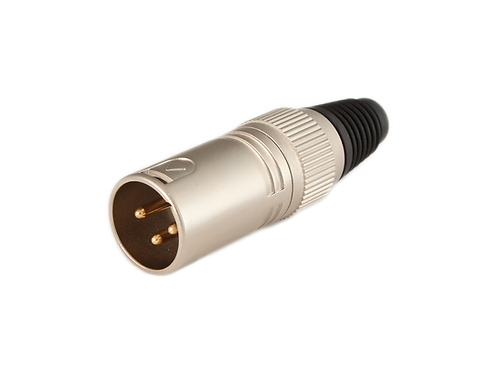3-Pin XLR Male Connector, Nickel finish