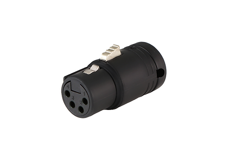 Low-Profile Right Angle XLR 4-pin Female, A-Shell