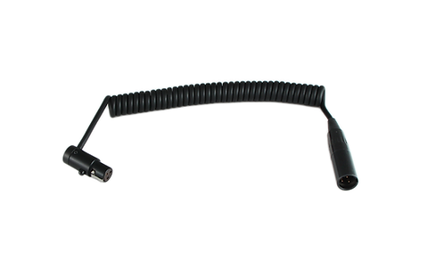 Low-Profile TA3F to TA3M Male Coiled Cable for Blackmagic Pocket Cinema