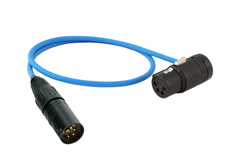 "18"" XLR-4M to Low-Profile XLR-4F DC Cable"