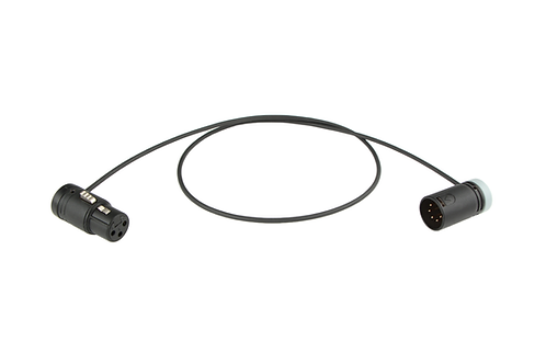 Low-Profile XLR-3 to XLR-5 Mono Split cable for Camera-Mounted Mic, ARRI/Venice