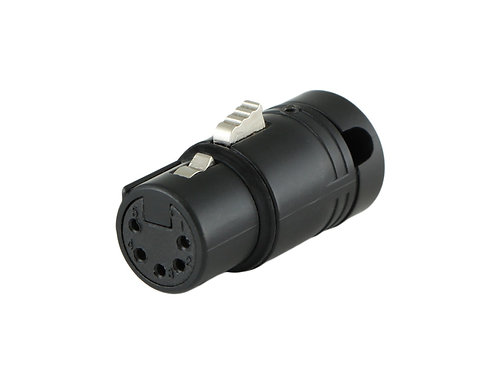 Low-Profile Right Angle XLR 5-pin Female