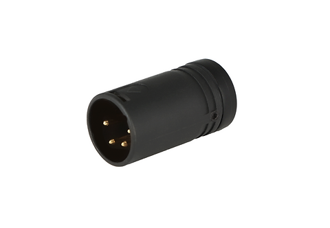 Low-Profile Right Angle XLR 4-pin Male, B-Shell