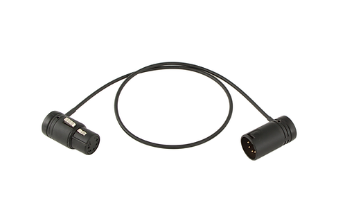 Low-Profile XLR-5 Stereo cable for Camera-Mounted Mics