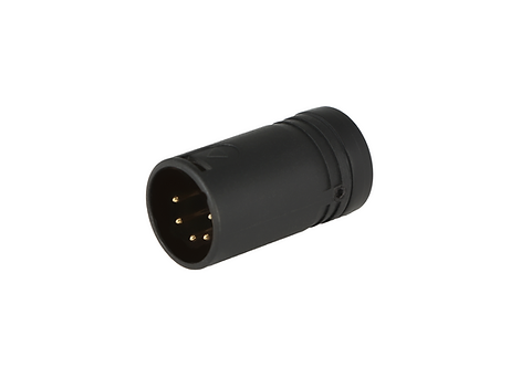 Low-Profile Right Angle XLR 5-pin Male, B-Shell