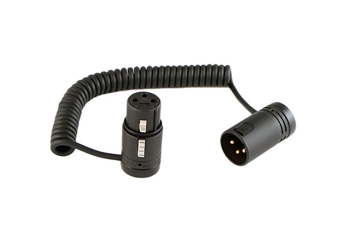 """6"""" XLR-3 Low-Profile Coiled Jumper cable"""