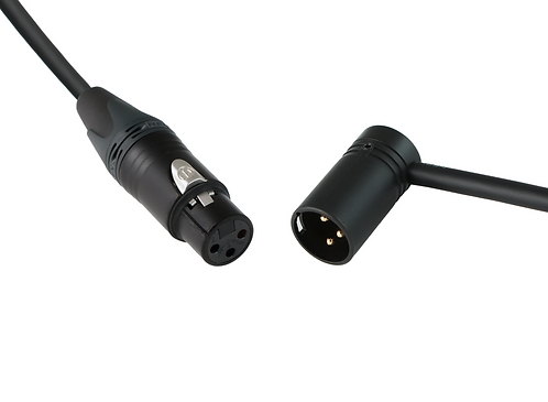 Premium XLR-3F to Low-Profile XLR-3M microphone cable with Mogami W2549