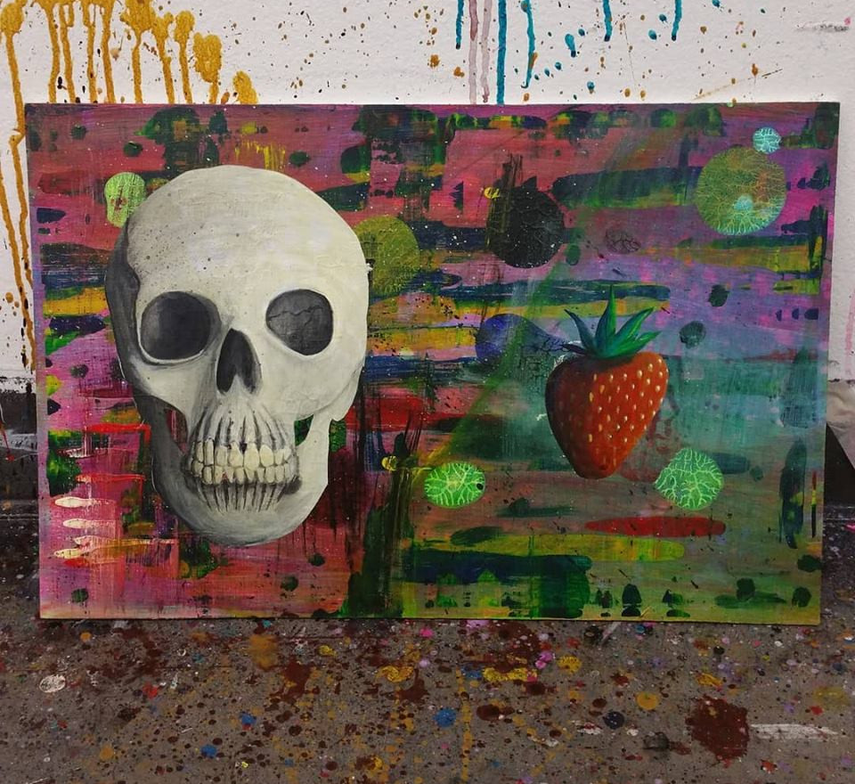 Skull and Strawberry
