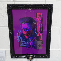 """Strange Times (to fall in lust)"" in custom frame"