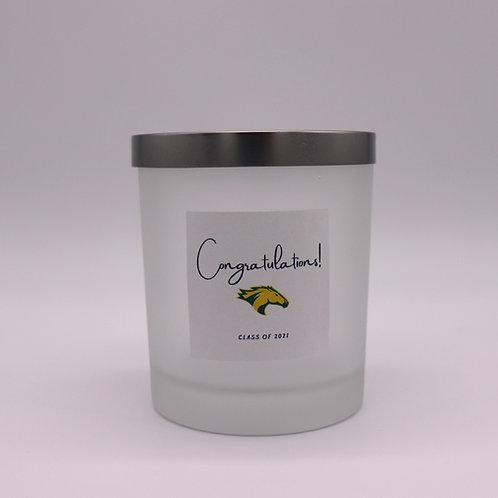 Custom graduation candle