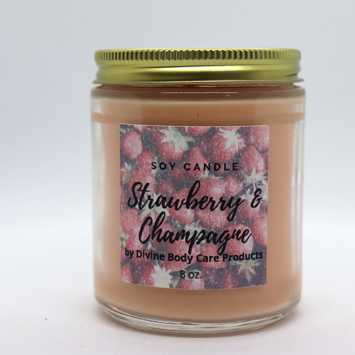 Strawberry & champagne candle