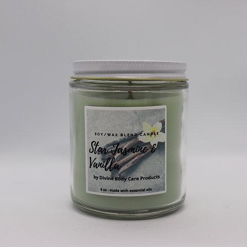 Star jasmine & Vanilla 8oz candle