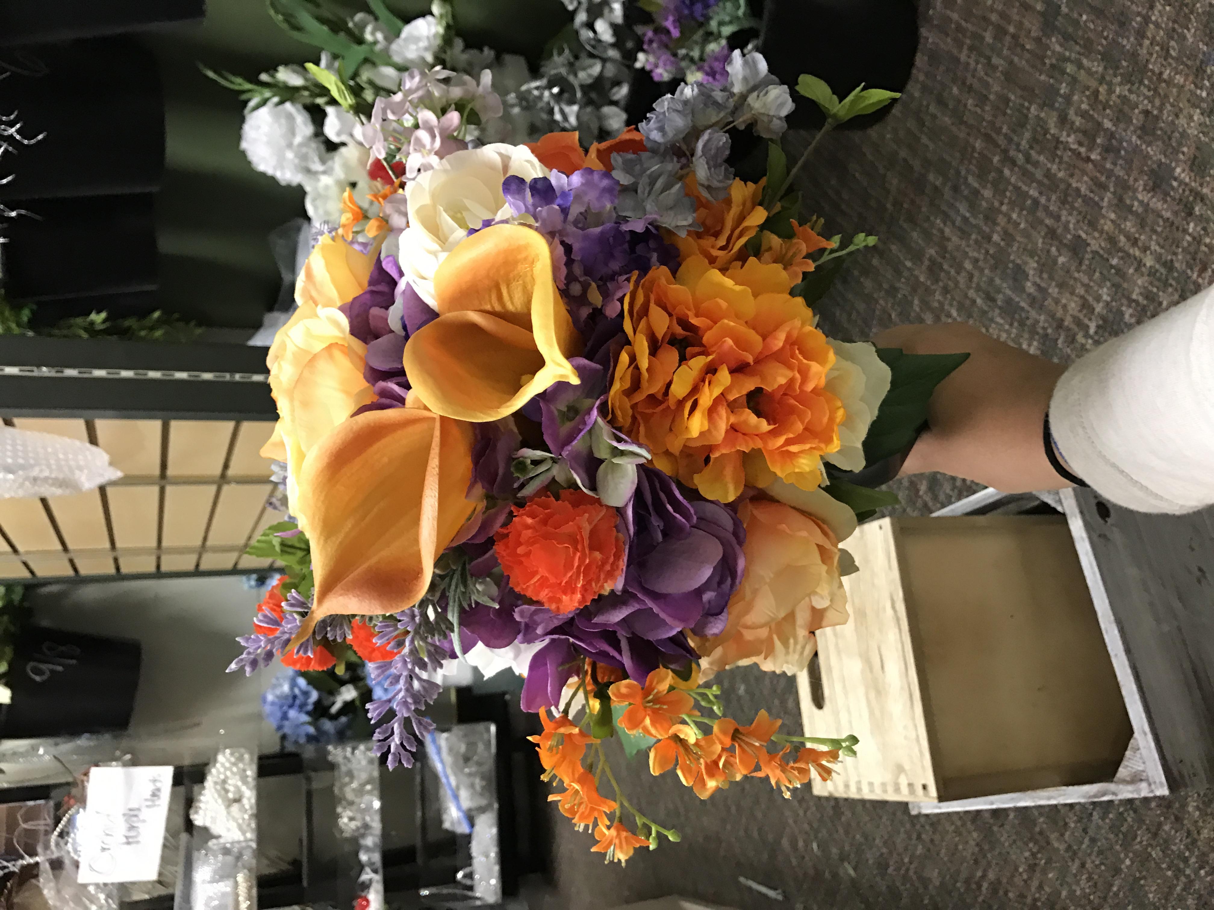 Meagan Moeder's toss bouquet